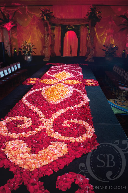Amazing petal aisles by Events by Showstoppers