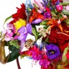 multi colored flower arrangement, designed by Japanese florist
