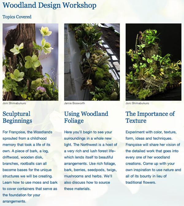 Floral Design classes with Francoise Weeks, Portland, Oregon