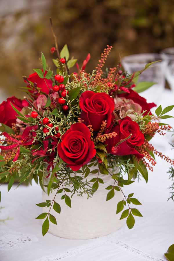 Fall Rose Centerpiece : Holiday inspiration by holly heider chapple flowers