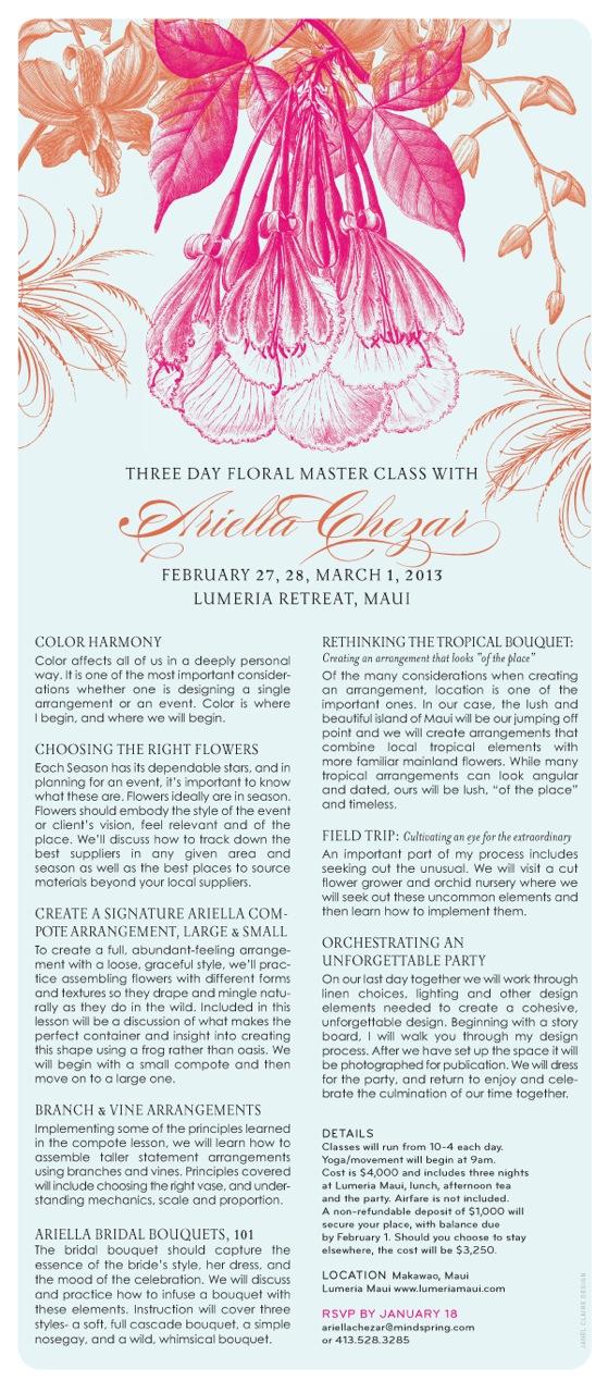 study floral design with Ariella Chezar