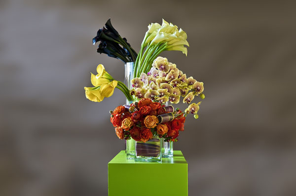 calla lilies and ranunculus modern flowers
