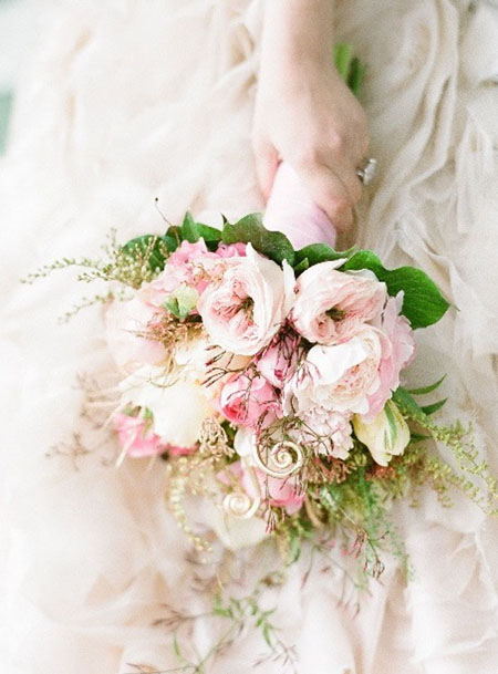 romantic blush pink bridal bouquet