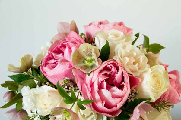 Pink and blush flower arrangement