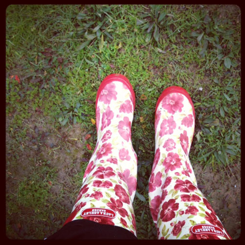 laura ashley flower rain boots
