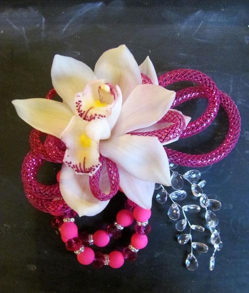 cymbidium orchid pink corsage