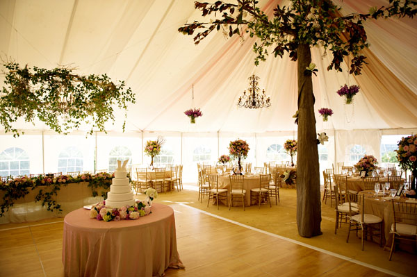 elegant reception tent