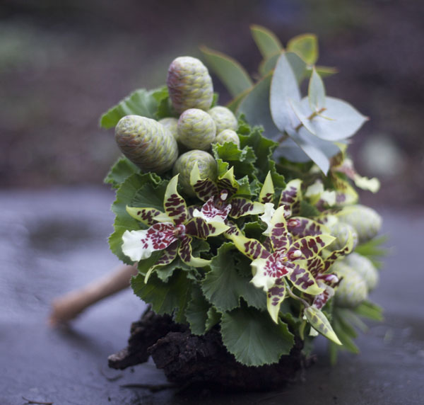 woodsy bridal bouquet