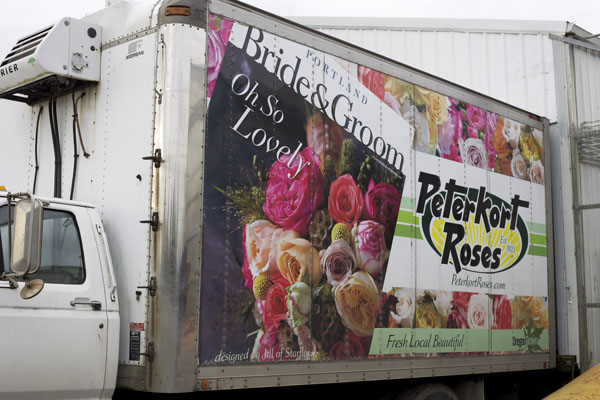 peterkort roses delivery truck
