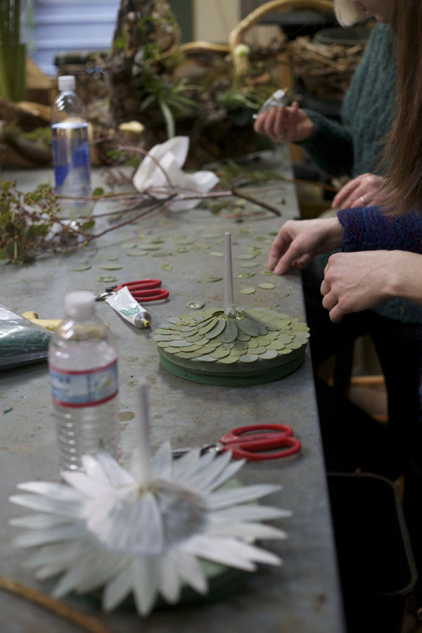 making bridal bouquets