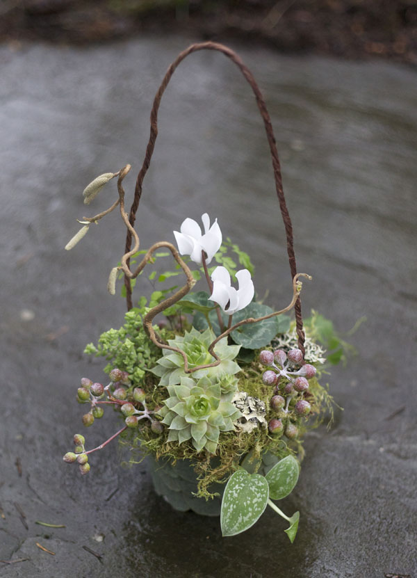 woodsy flower basket