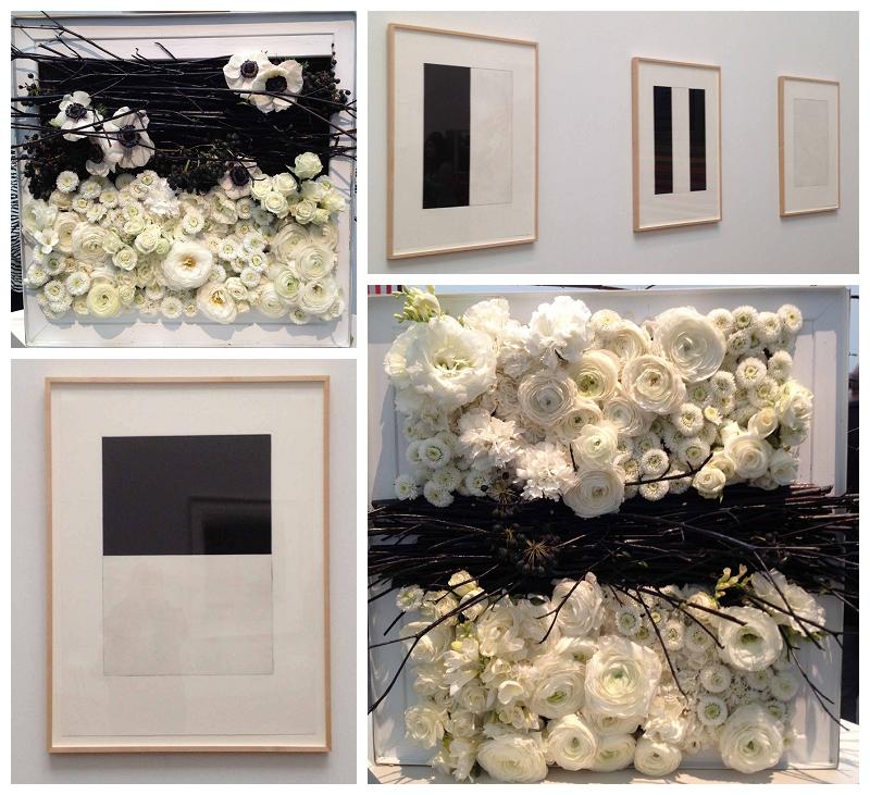 Floral Designer: Pico Soriano. Art Piece: Brice Marden, Five Plates