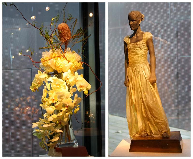 Floral Designer: Nob Hill Florist. Art Piece: Nicolas Africano, Untitled