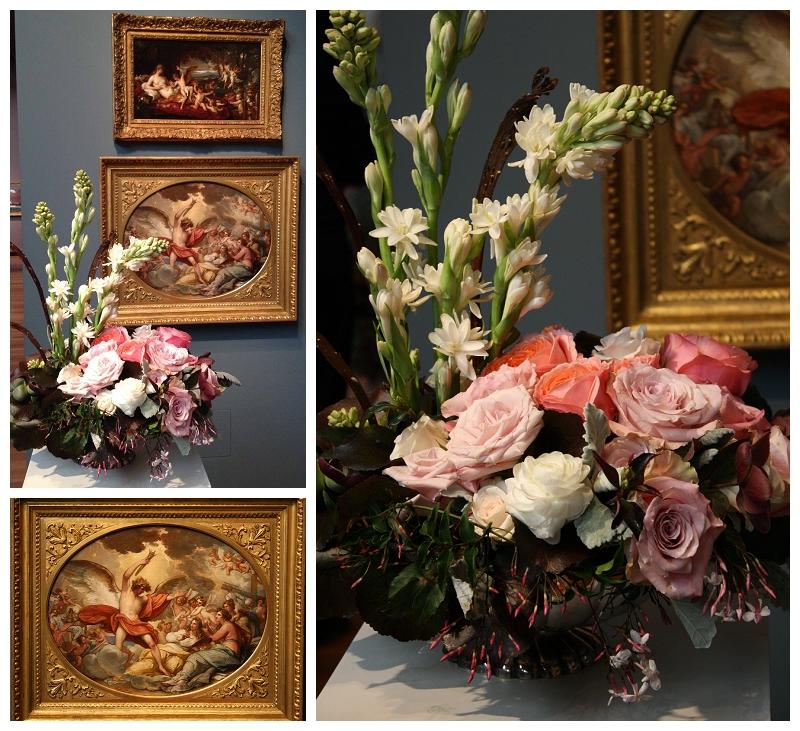 Floral Designer: Jean David. Art Piece: Benjamin West.
