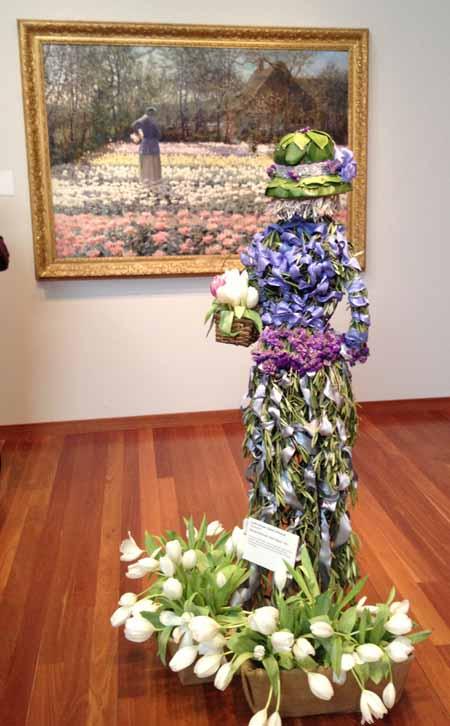 Floral Designer: Lovey's Garden. Art Piece: George Hitchcock, Tulip Culture
