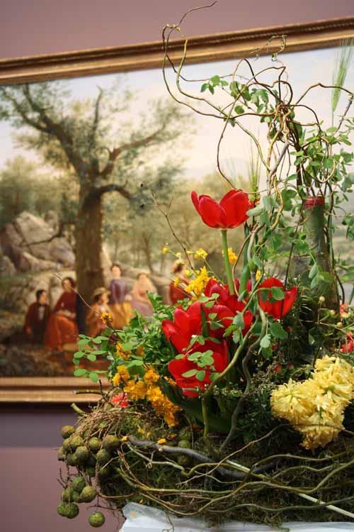 Floral Designer: Dariel Alexander. Art Piece: Jerome Thompson, Recreation