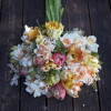 tulip and daffodil bridal bouquet