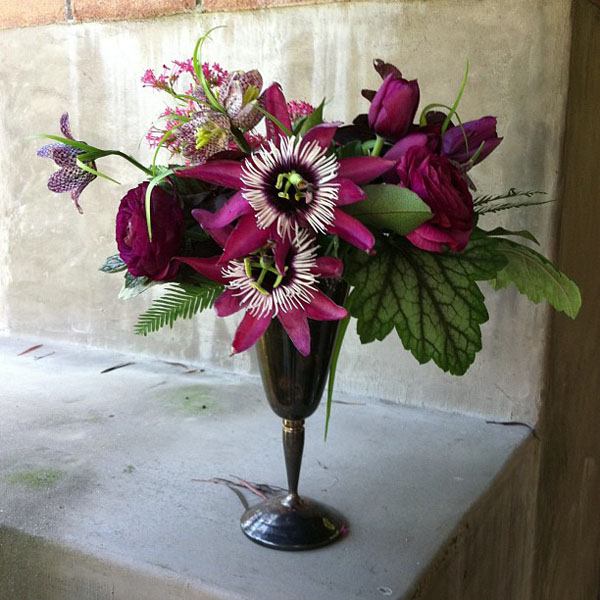 Passionflower and fritillaria