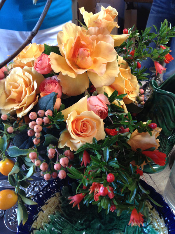 orange flower arrangement