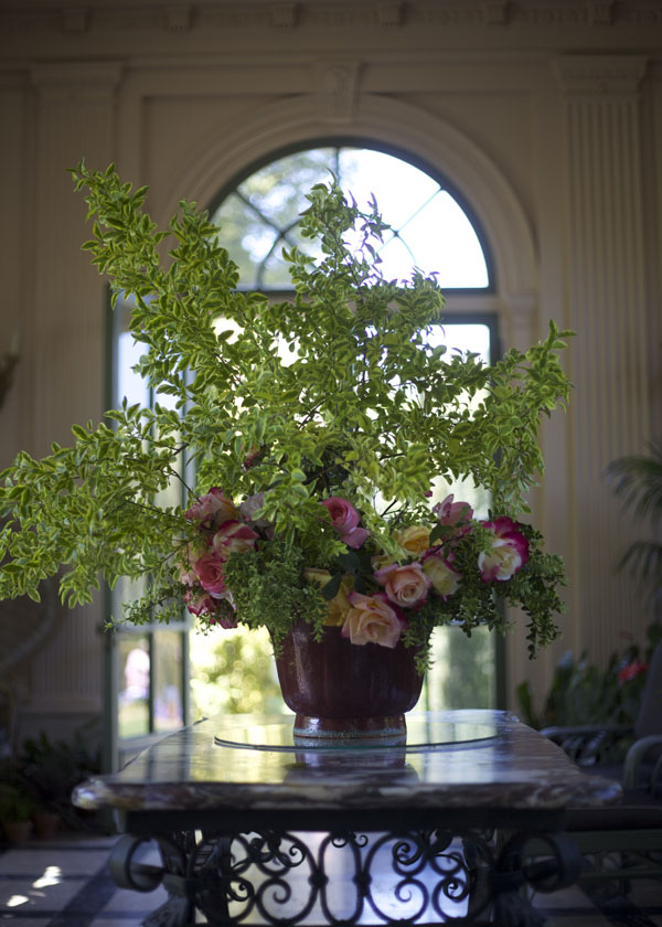 flower arrangement at filoli