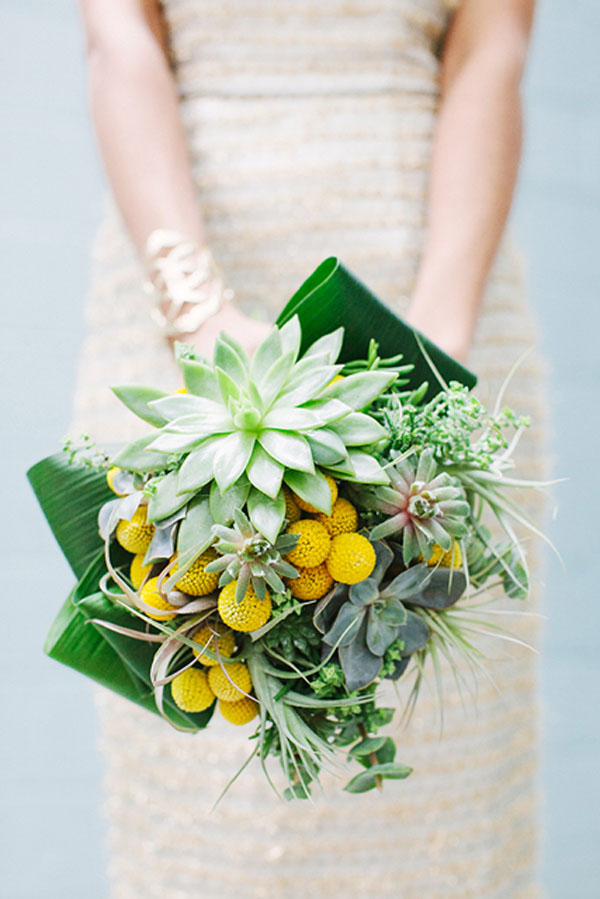 bridal bouquet succulents and billy balls