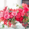 pink and fuchsia flower centerpiece