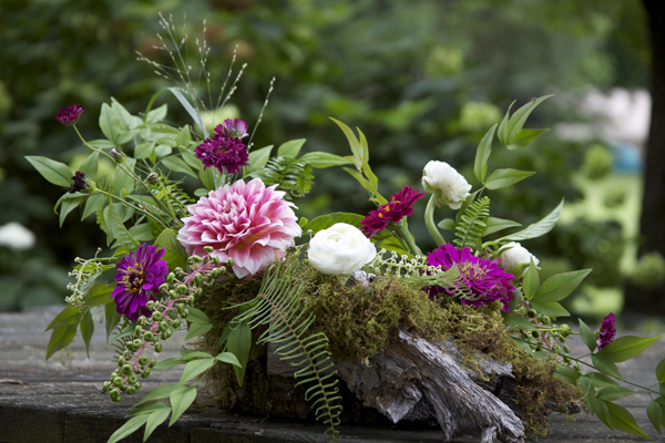 woodland flower arrangement