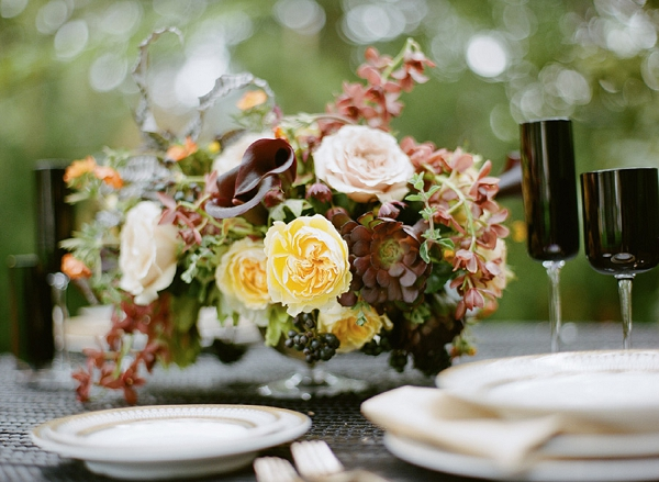 chocolate and yellow centerpiece