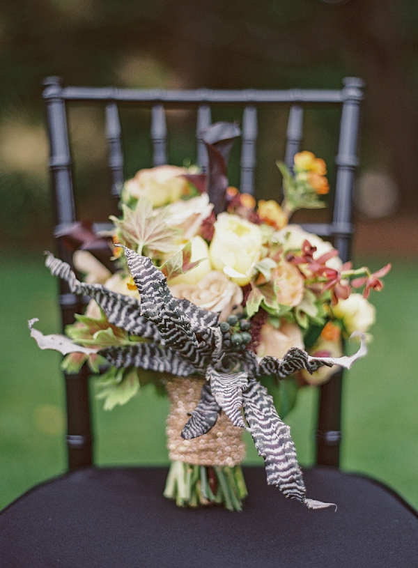bridal bouquet with bromeliad