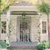white lily garland ceremony backdrop