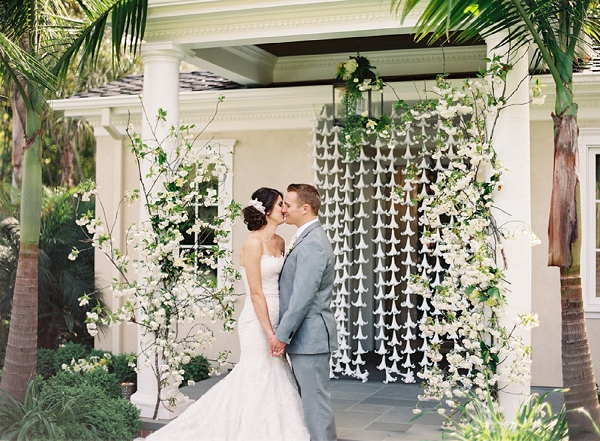 hanging lily garlands