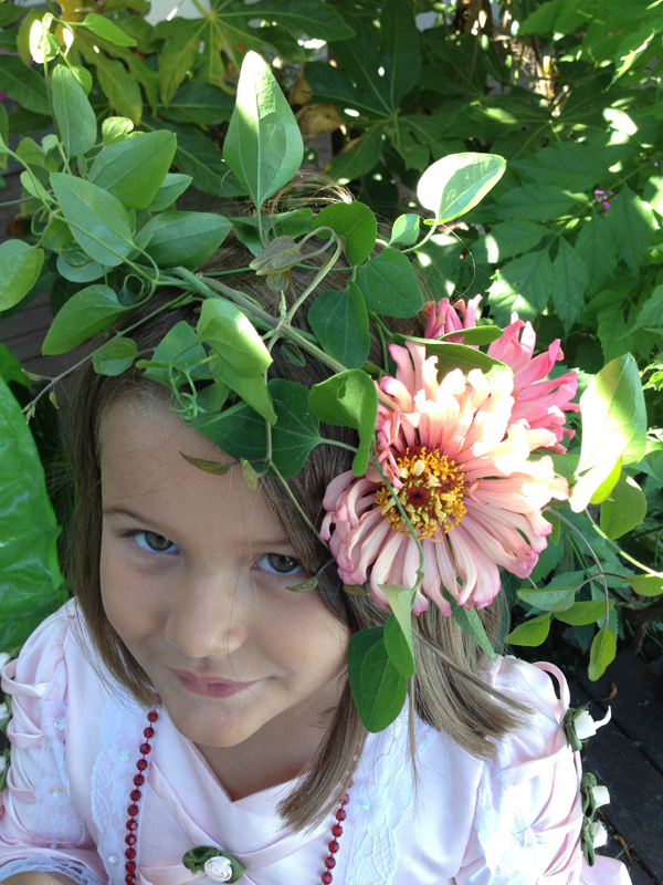 zinnia flower girl halo