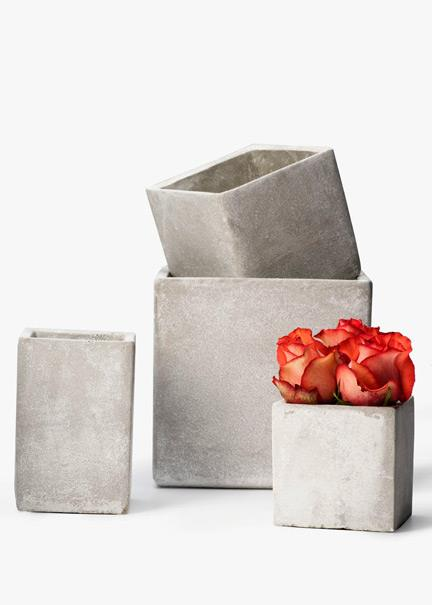 cement cube vases
