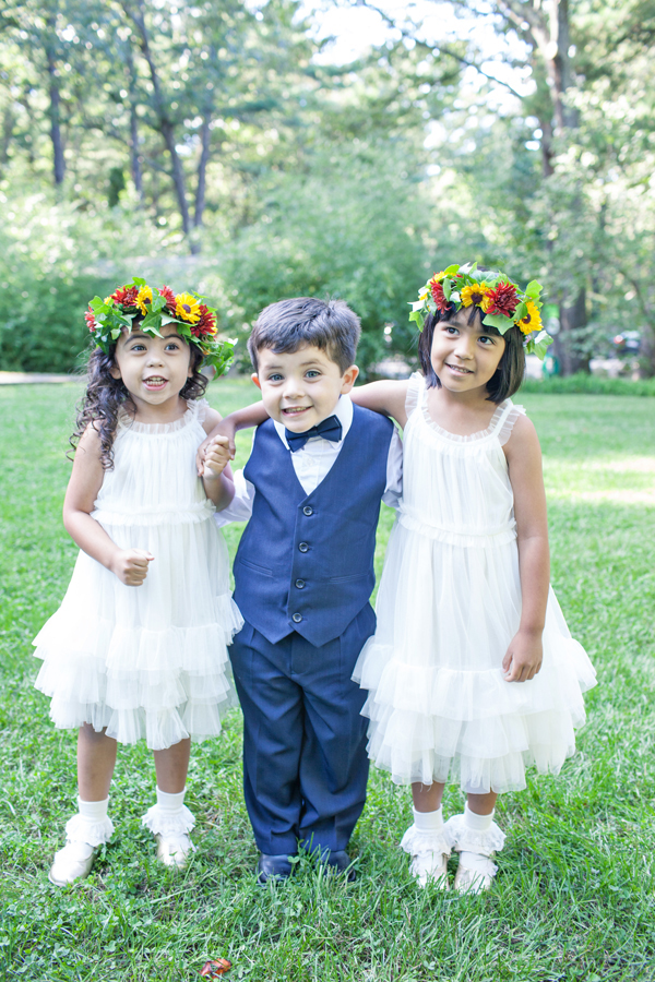 colorful flower girl halos