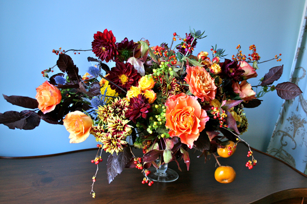 autumnal flower arrangement