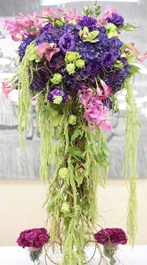 elevated flower design centerpieces