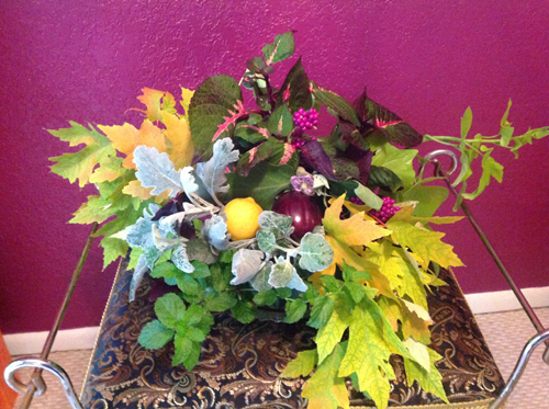 arrangement of fall foliages