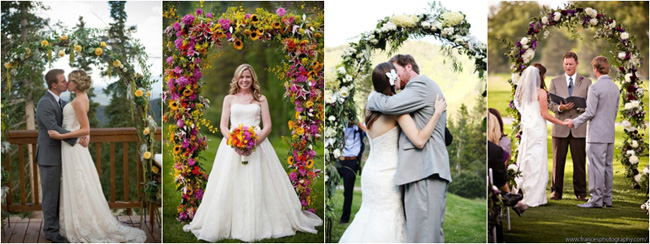 flower arches for weddings, designed by Bella Fiori Events