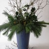 all winter greenery arrangement