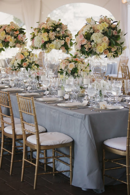 beautiful white and blush reception room