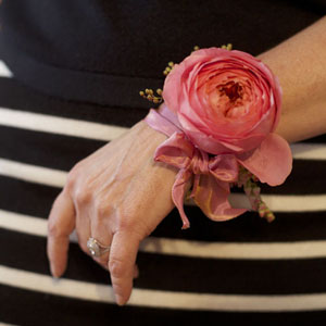 Bella Fiori Wristlet Corsage - Floral Design Class Seattle