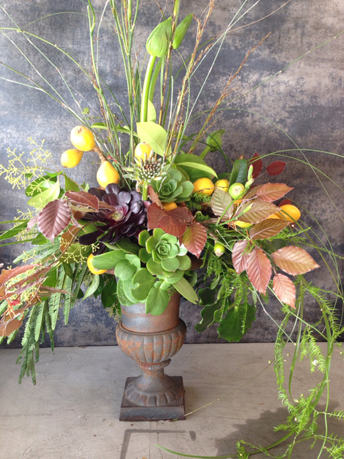 green foliages with succulents arrangement