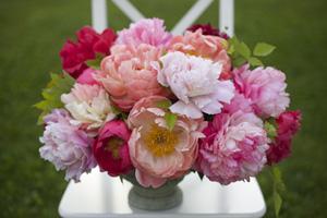 bella fiori peony floral arrangement