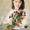 brown, copper and white bridal bouquet