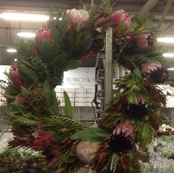 banksia protea flower wreath