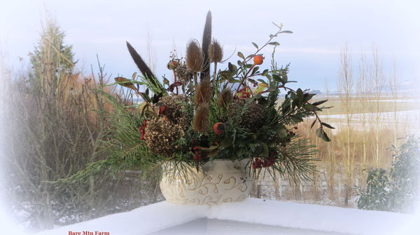 winter foliages arrangement