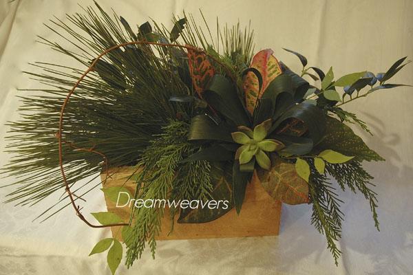 winter greenery centerpieces