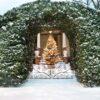 Christmas Tree with Snow and lights