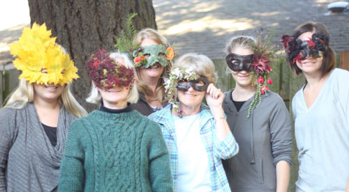 Floral Designer flower masks