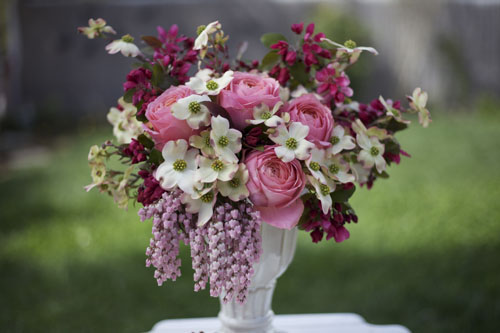 Bella Fiori - dogwood, pieris japonica, pink roses